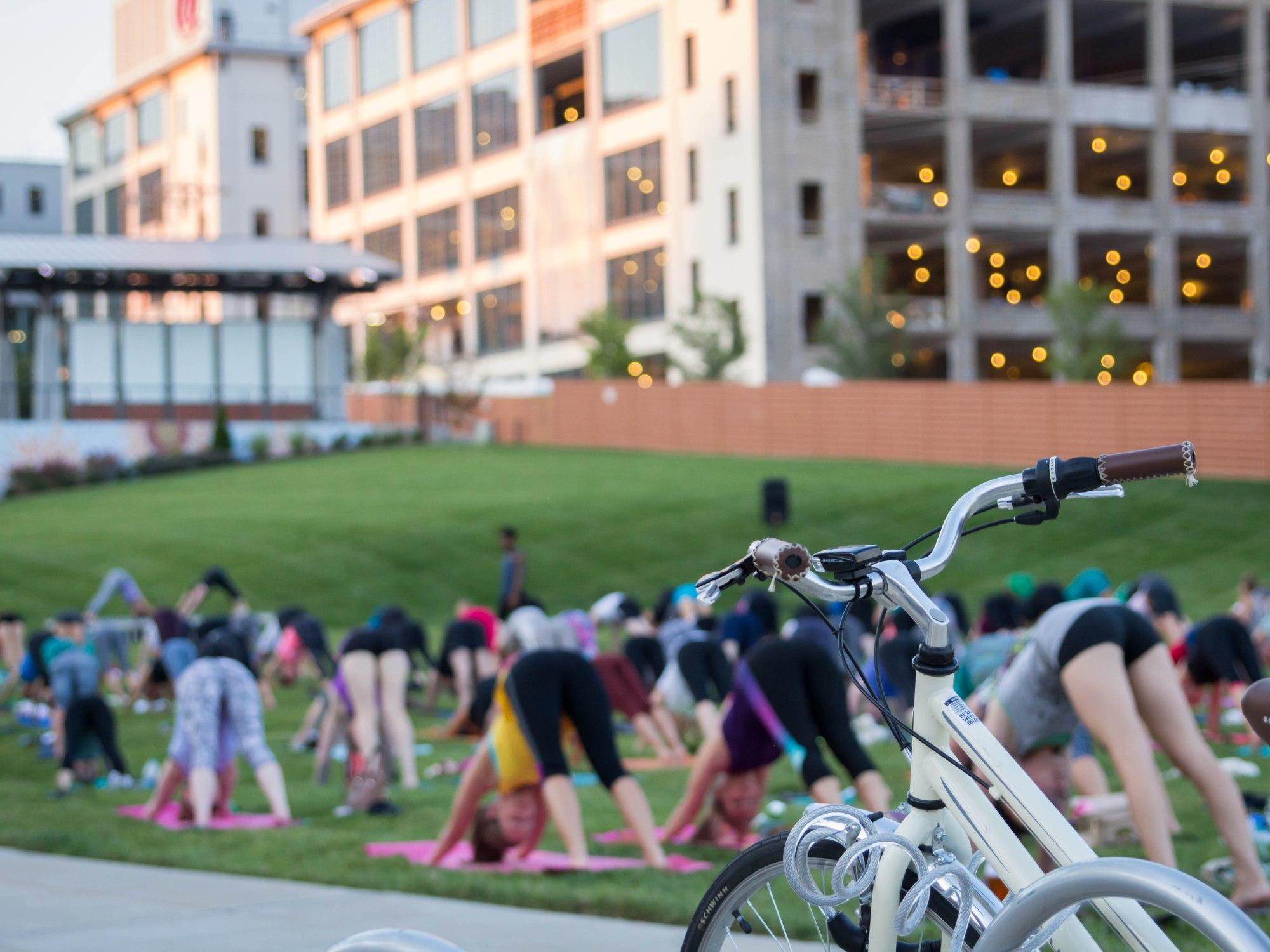 Outdoor Yoga at Bailey Park Winston-Salem