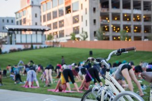 Outdoor Yoga at Bailey Park Winston-Salem