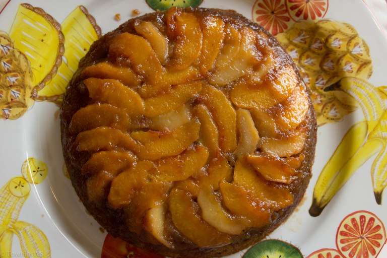 Peach Bourbon Upside DownCake_TowniesWS.com