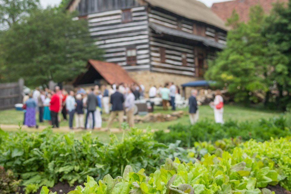 farm to table dinner in Winston-Salem with Chef Harrison Littell at Old Salem, photo by Andrea Littell