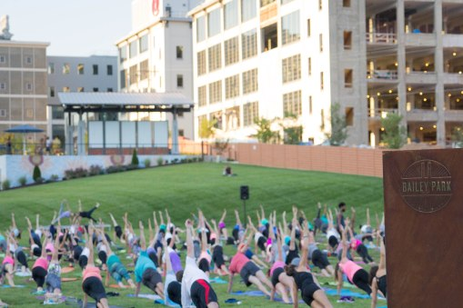 Outdoor Yoga at Bailey Park, Winston-Salem