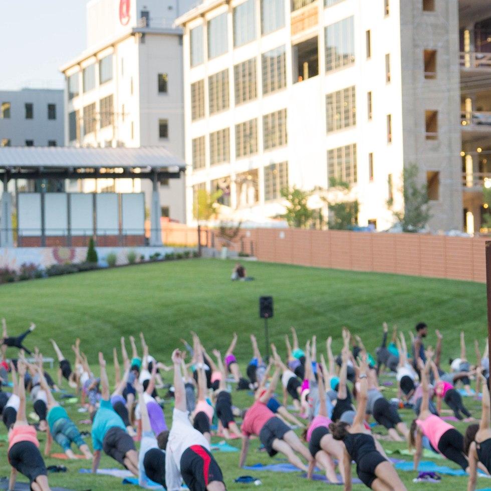 Outdoor Yoga at Bailey Park, Winston-Salem