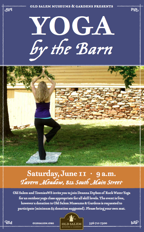 Yoga By The Barn Old Salem Community Yoga Winston-Salem