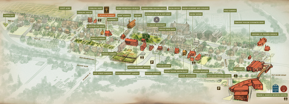 Old Salem Nc Map.Join Us This Saturday For Community Yoga In Old Salem Townies