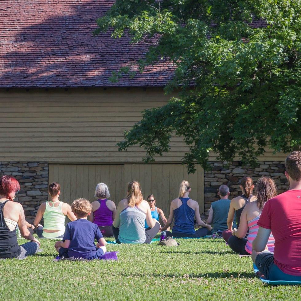 Yoga by the Barn Old Salem